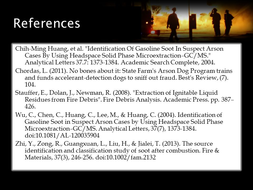 References Chih-Ming Huang, et al.