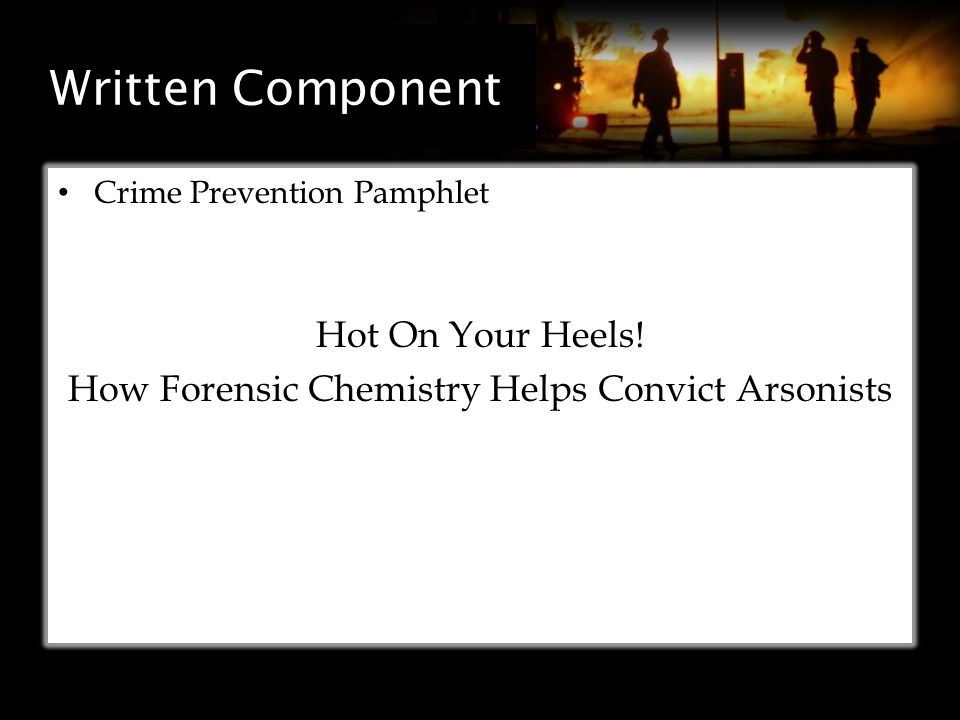 Written Component Crime Prevention Pamphlet Hot On Your Heels.