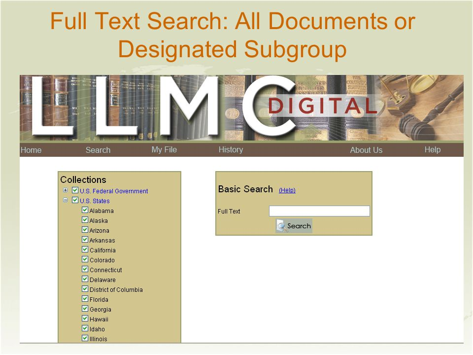 Full Text Search: All Documents or Designated Subgroup