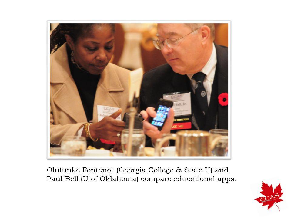 Olufunke Fontenot (Georgia College & State U) and Paul Bell (U of Oklahoma) compare educational apps.
