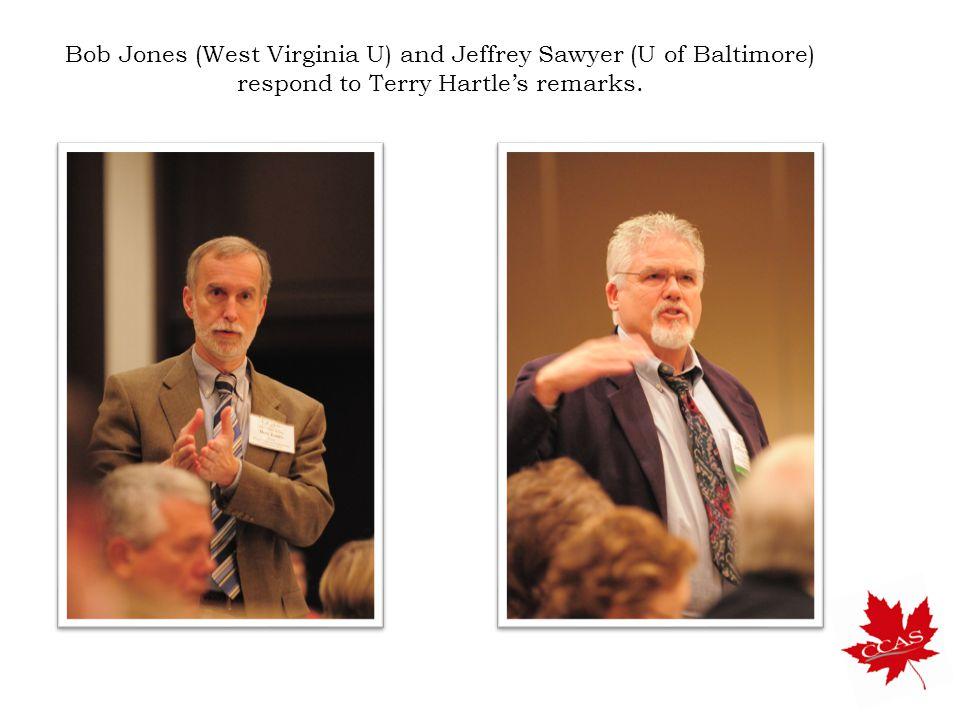 Bob Jones (West Virginia U) and Jeffrey Sawyer (U of Baltimore) respond to Terry Hartle's remarks.
