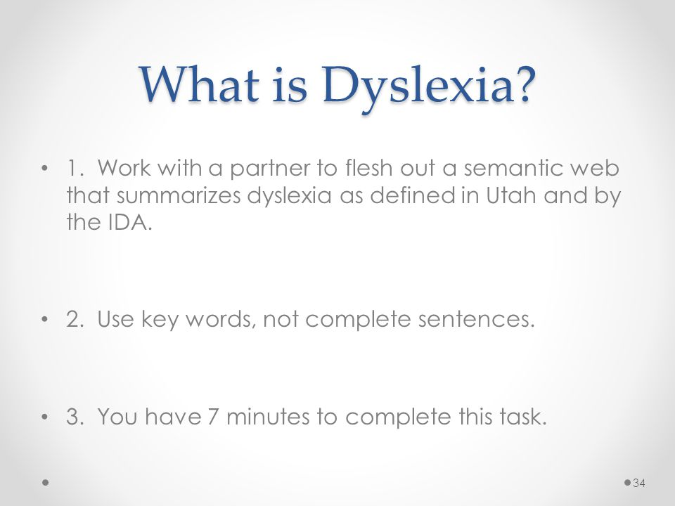 What is Dyslexia. 1.