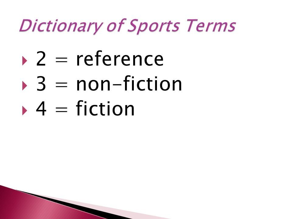  2 = reference  3 = non-fiction  4 = fiction