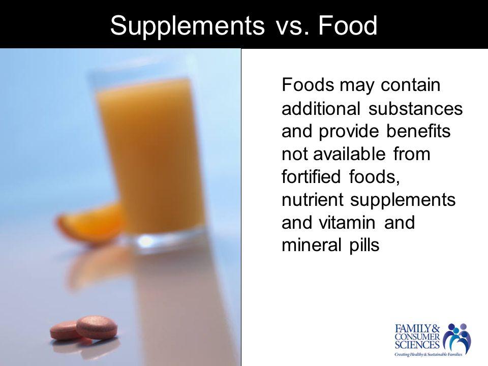 Supplements vs.