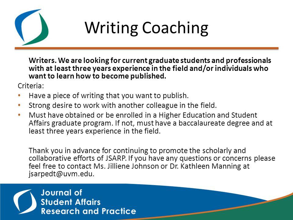 Writing Coaching Writers.