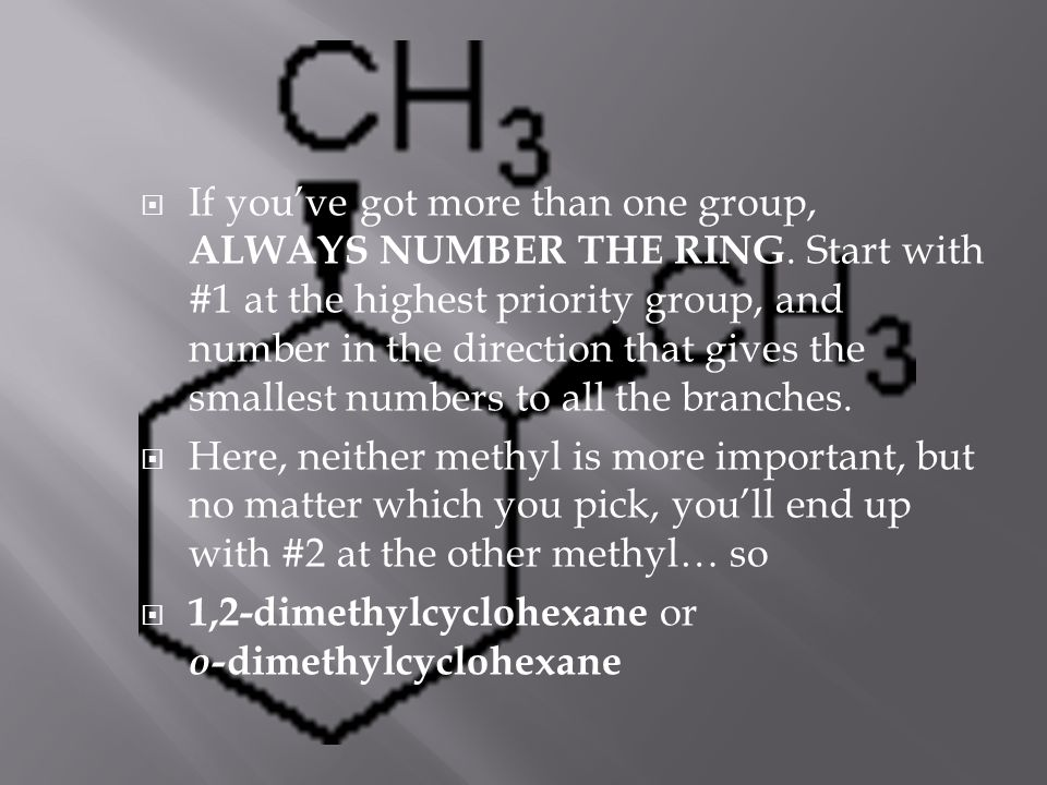  If you've got more than one group, ALWAYS NUMBER THE RING.