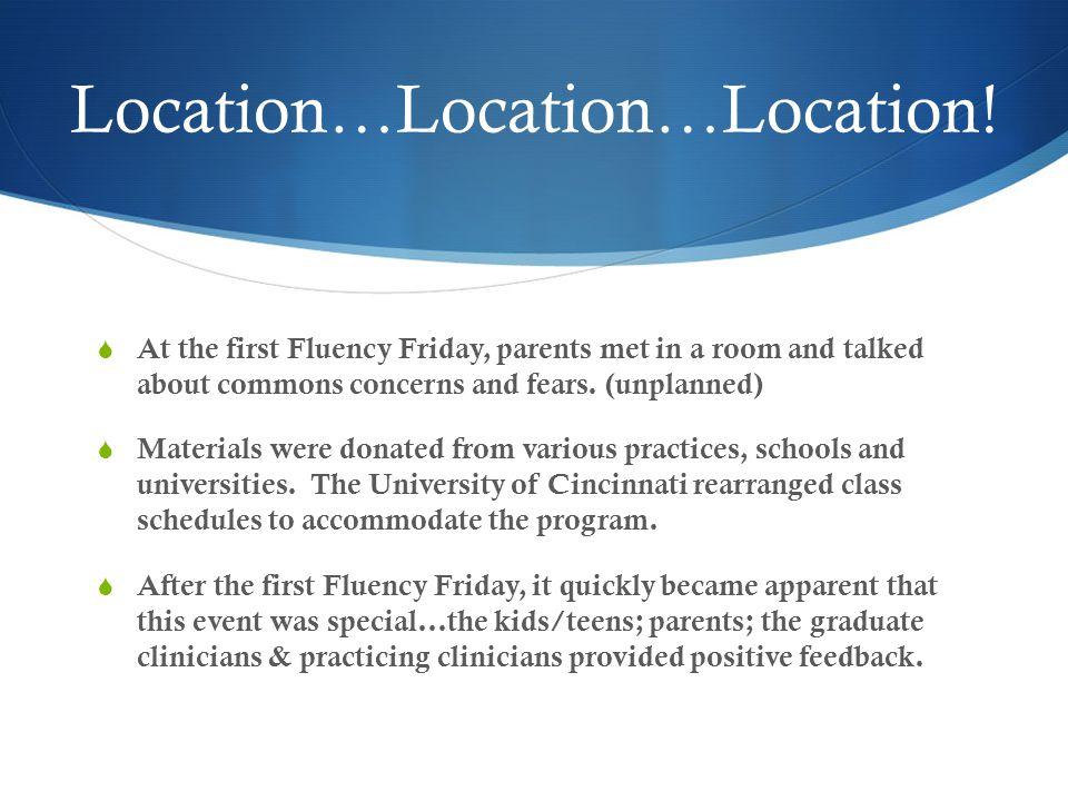 The FFP Program Grew & Moved  3 years at the University of Cincinnati: Thanks, Nancy Creaghead.
