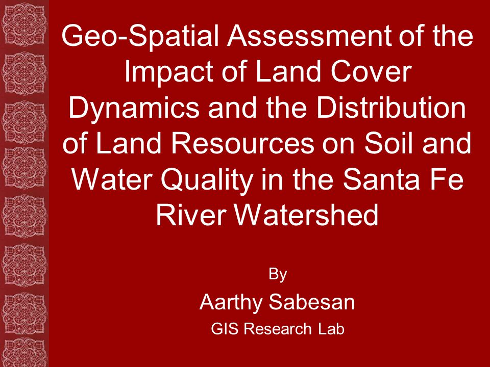 Objective Identify recent changes within land cover classes Quantify the areal extent of these changes Assess the trend or nature of change within land cover classes