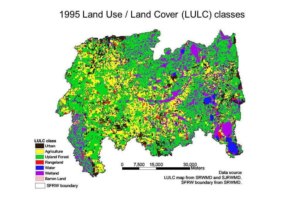 Land-use and soil combination raster (Illustrated here are the soil orders present under the urban land use class) Stratified Random Sampling Design