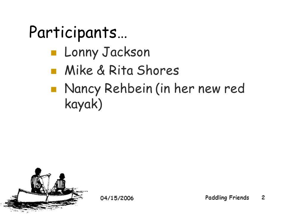 04/15/2006 Paddling Friends3 Nancy