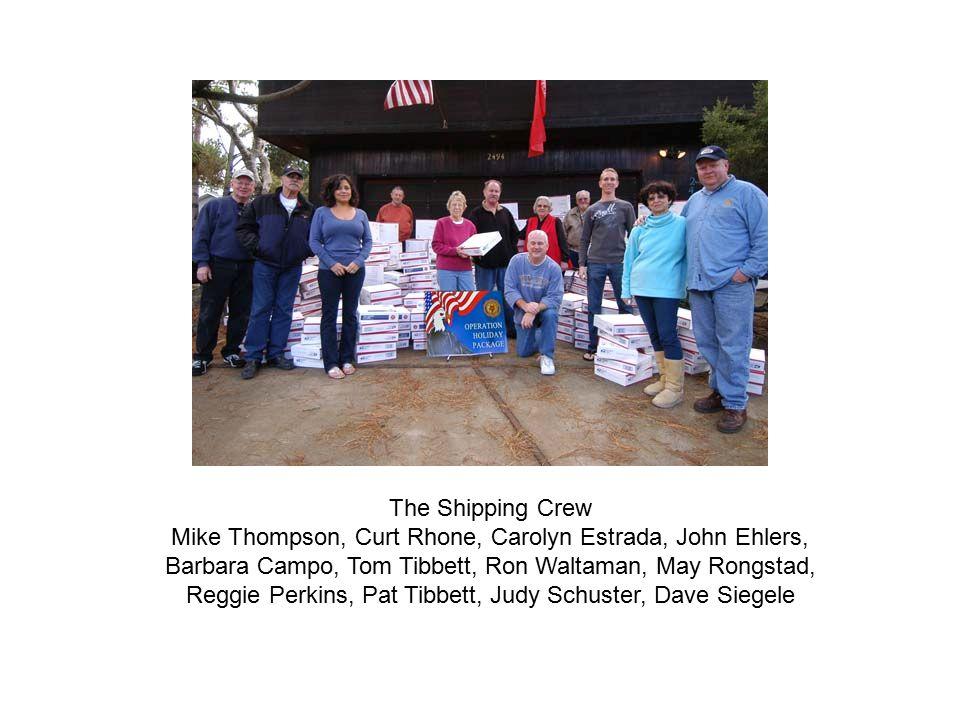 The Shipping Crew Mike Thompson, Curt Rhone, Carolyn Estrada, John Ehlers, Barbara Campo, Tom Tibbett, Ron Waltaman, May Rongstad, Reggie Perkins, Pat Tibbett, Judy Schuster, Dave Siegele
