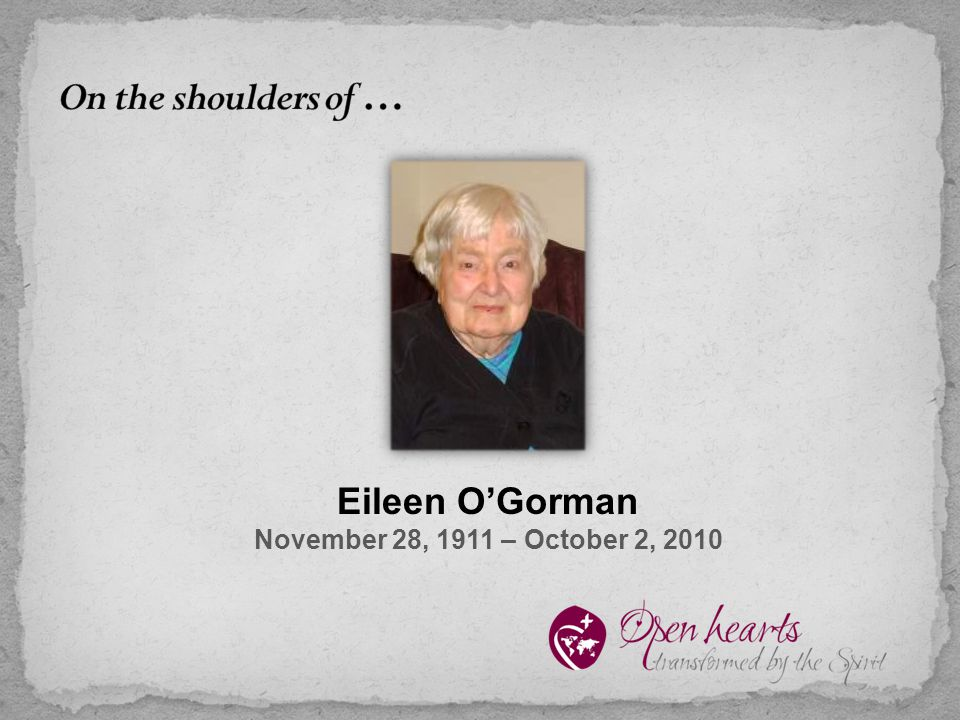 Eileen O'Gorman November 28, 1911 – October 2, 2010