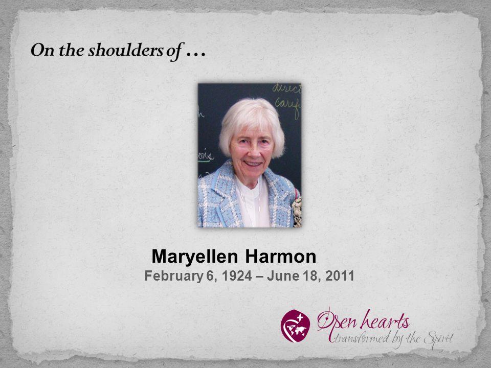 Maryellen Harmon February 6, 1924 – June 18, 2011