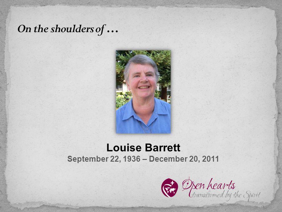 Louise Barrett September 22, 1936 – December 20, 2011