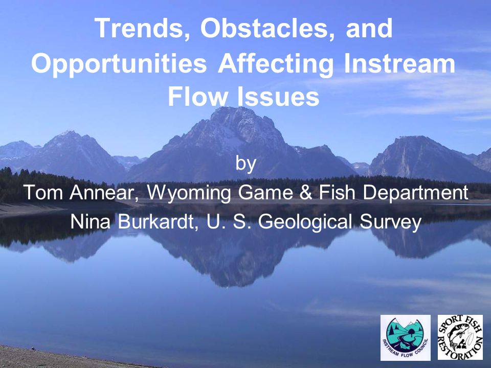 Trends, Obstacles, and Opportunities Affecting Instream Flow Issues by Tom Annear, Wyoming Game & Fish Department Nina Burkardt, U.