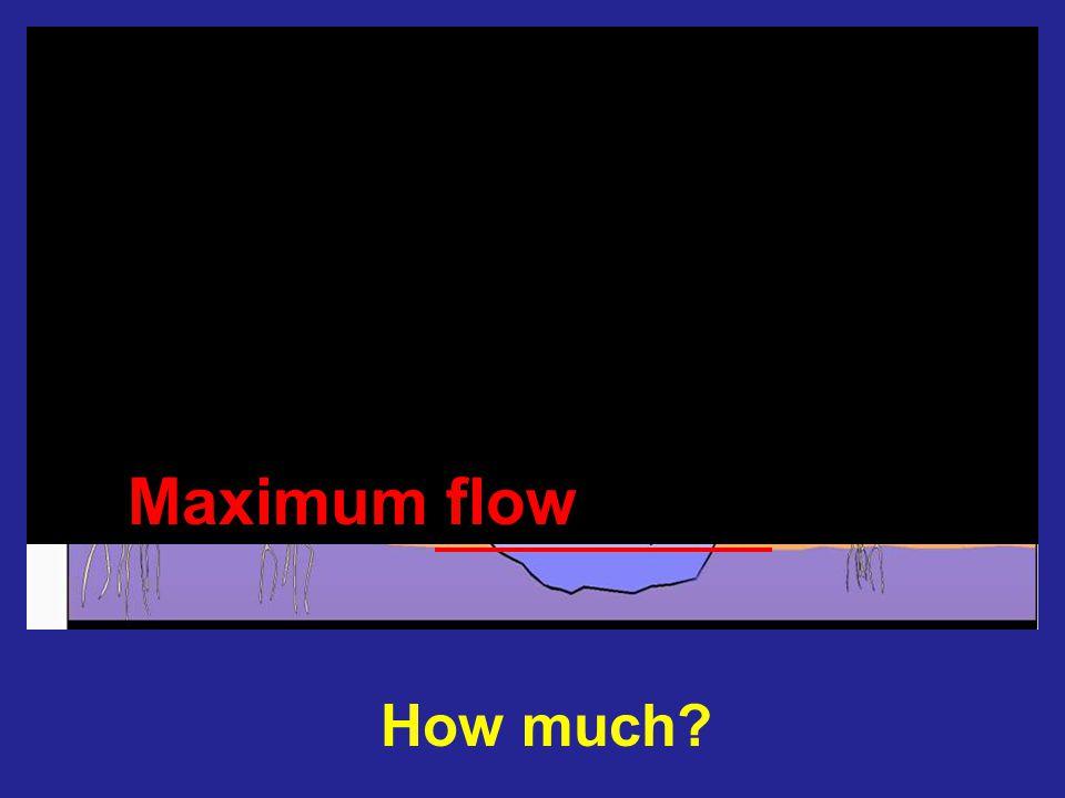 How much? Minimum flow Maximum flow