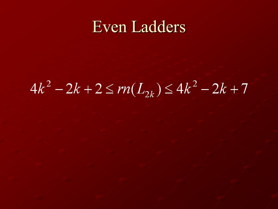 Even Ladders