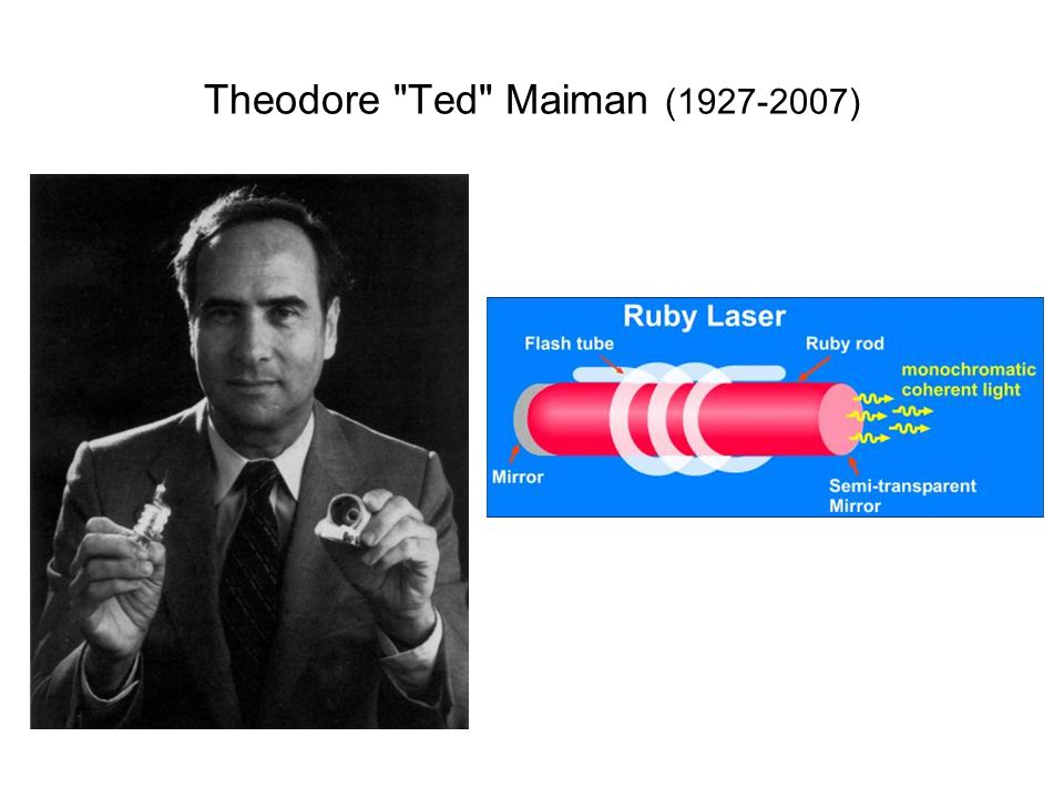 Theodore Ted Maiman (1927-2007)