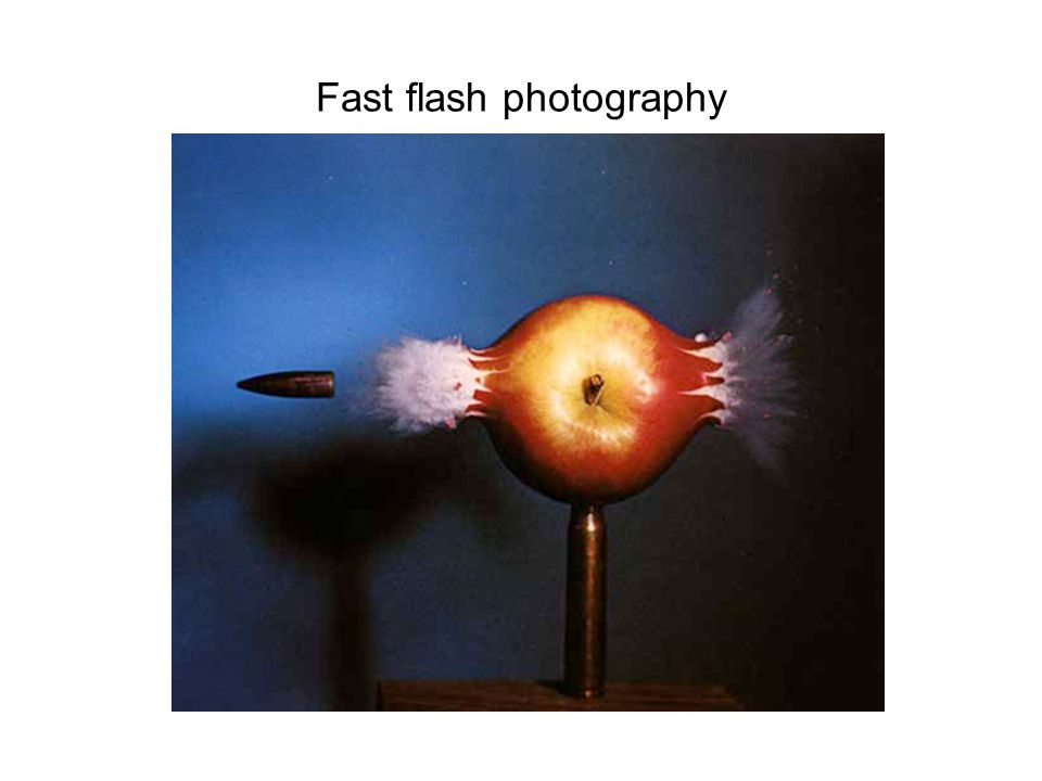 Fast flash photography
