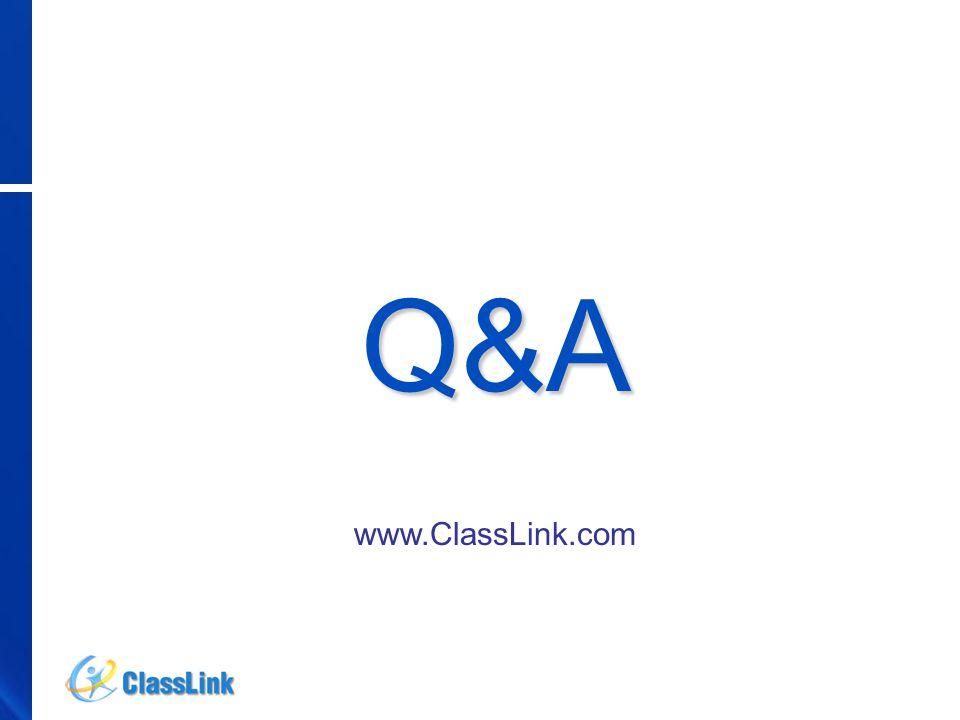 Q&A www.ClassLink.com