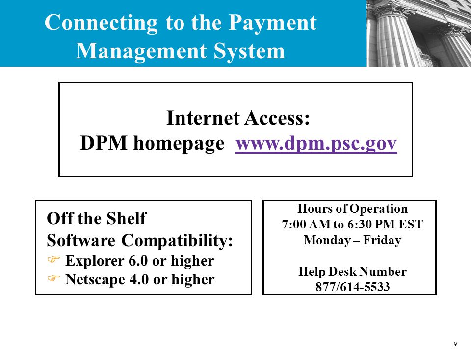 50 Access the DPM Home Page www.dpm.psc.gov and then click on Electronic 272 Completing the PSC 272 Report