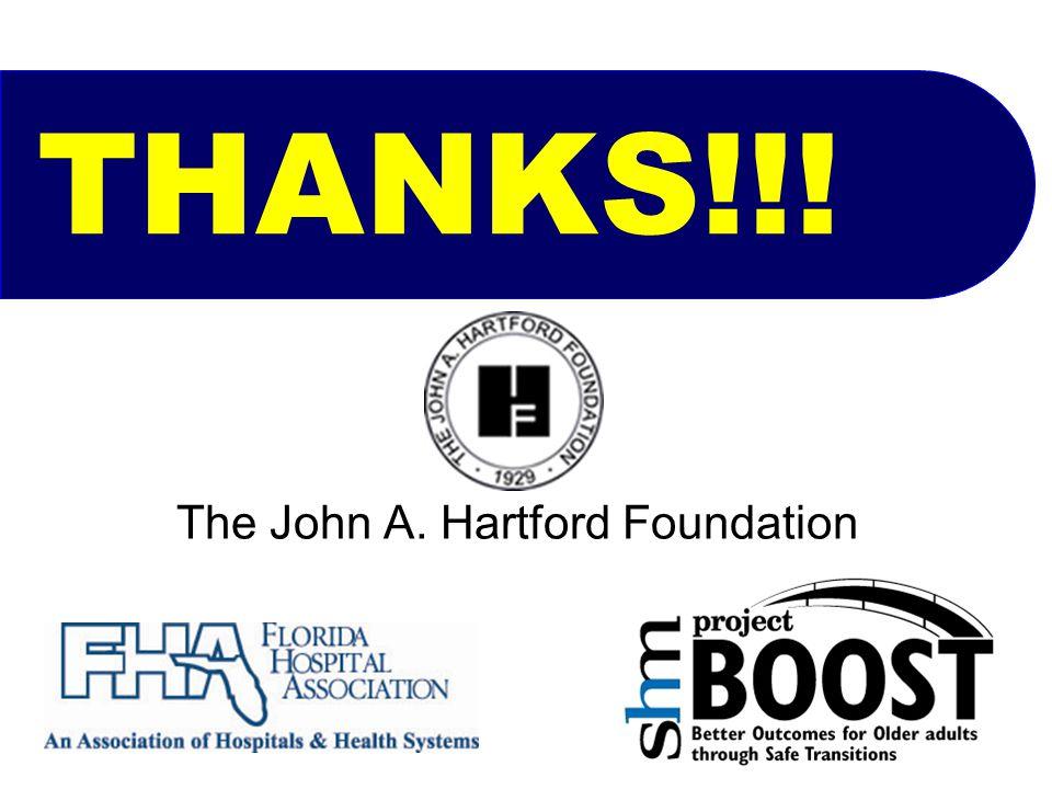 THANKS!!! The John A. Hartford Foundation