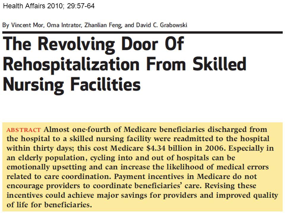 Health Affairs 2010; 29:57-64