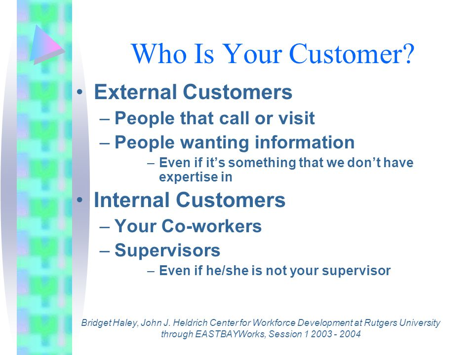 Who Is Your Customer.