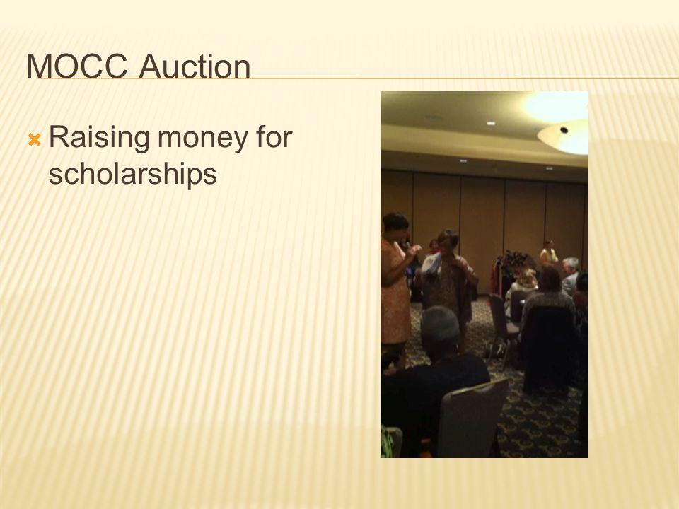 MOCC Auction  Raising money for scholarships