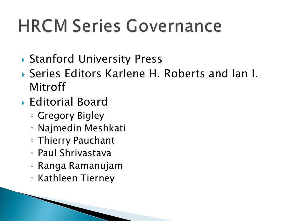  Stanford University Press  Series Editors Karlene H.
