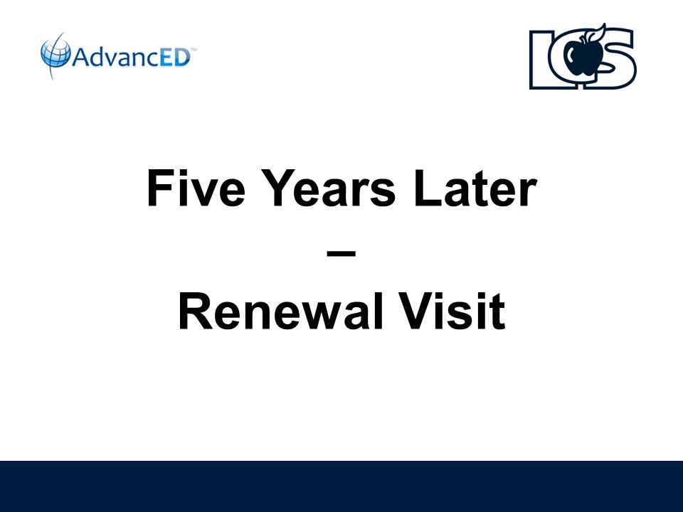 Five Years Later – Renewal Visit