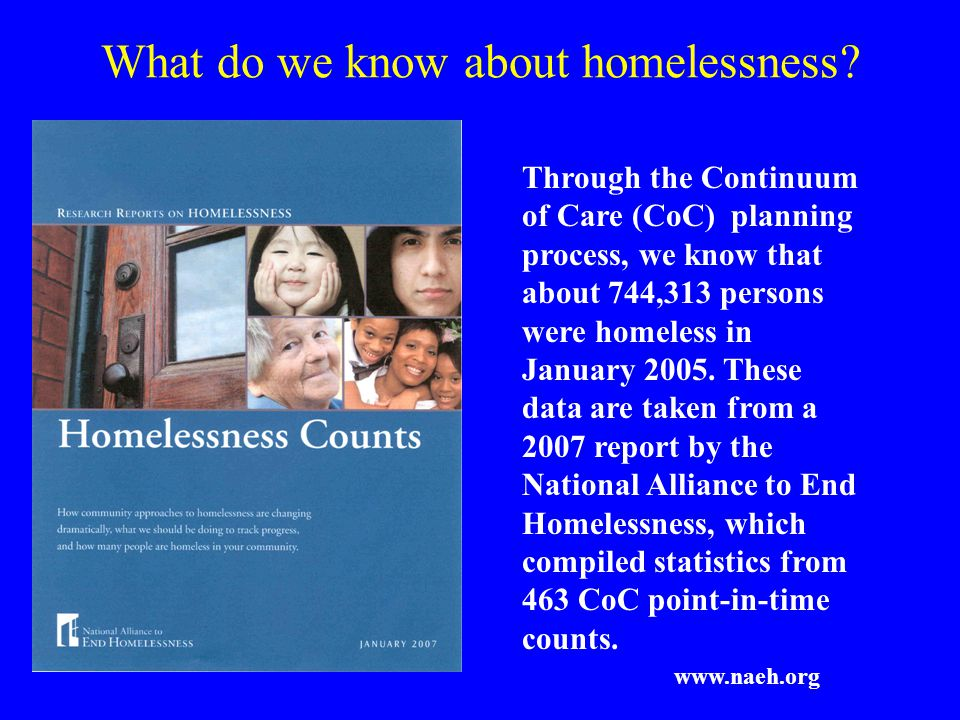 What do we know about homelessness.