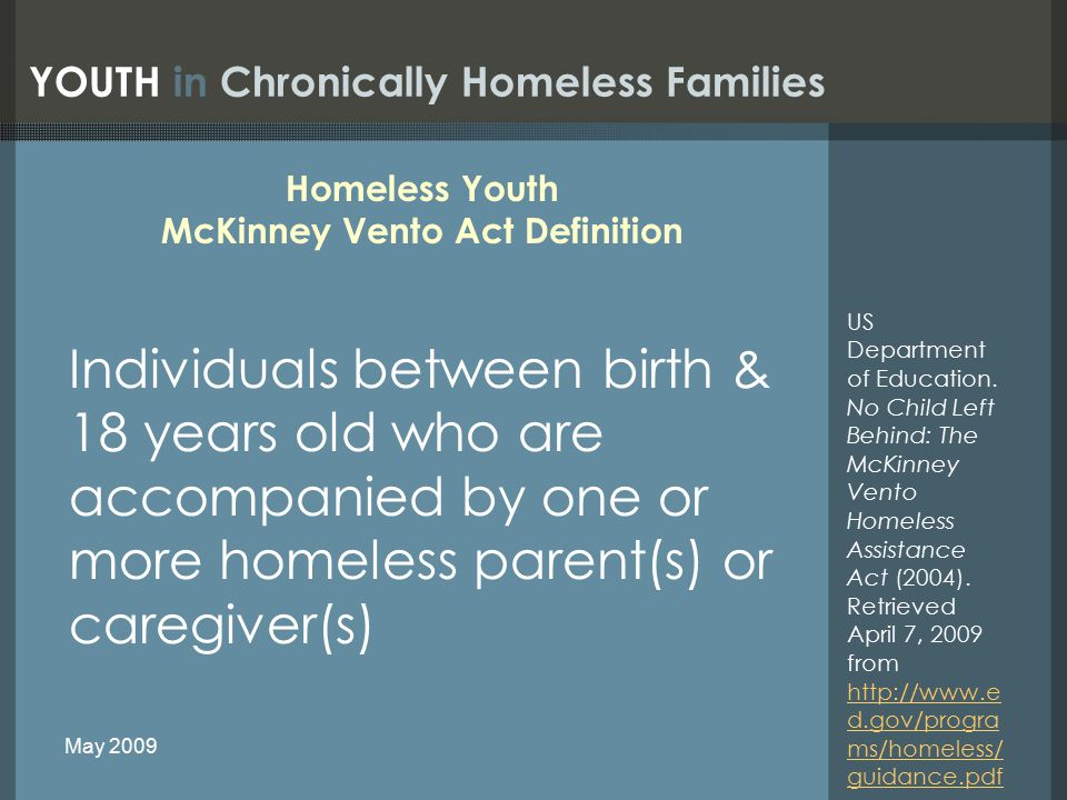 Some Common Mental Health Diagnoses in Homeless Children Acute reaction to stress Attention Deficit Disorder Anxiety disorder Depression Insomnia Isolation Mood disorder, NOS Nightmares Post-Traumatic Stress Disorder WHY is this issue important.
