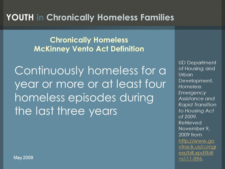 Lack of Housing 90,889 units of emergency shelter, transitional housing, and permanent supportive housing are available for families nationwide Most people on public housing and Section 8 waiting lists are families with extremely low incomes.
