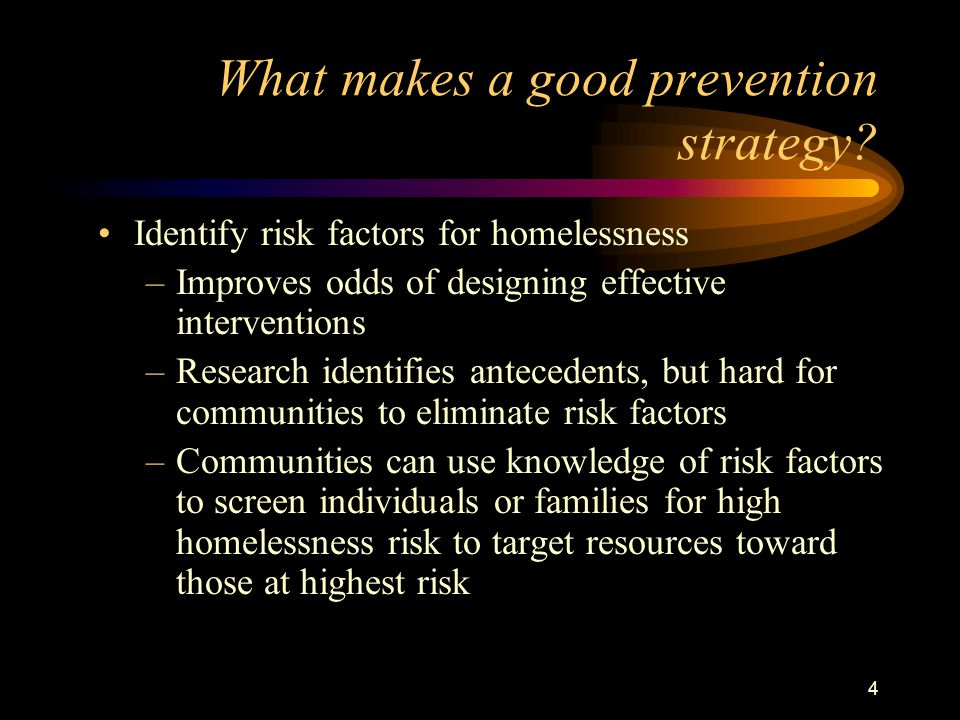 4 What makes a good prevention strategy.