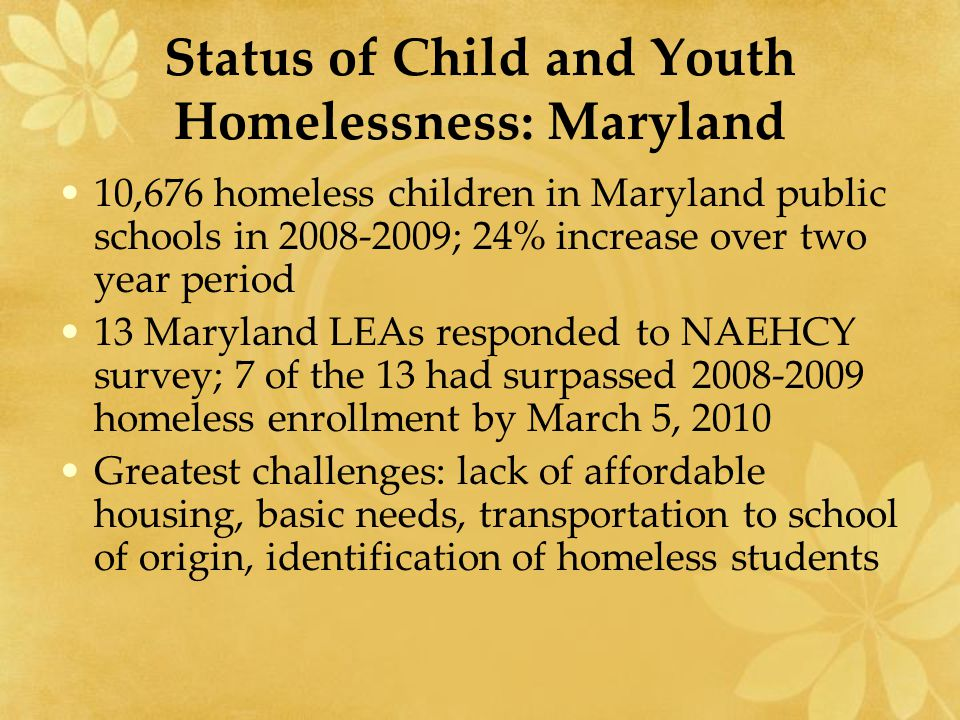 Barriers to Educational Access and Success Enrollment requirements (school records, health records, proof of residence and guardianship) High mobility resulting in lack of school stability and educational continuity Lack of awareness; under-identification Lack of transportation Lack of school supplies, clothing, etc.