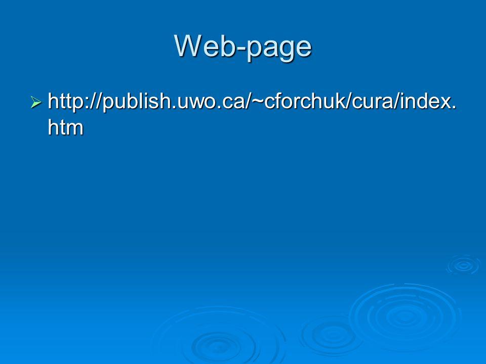Web-page  http://publish.uwo.ca/~cforchuk/cura/index. htm