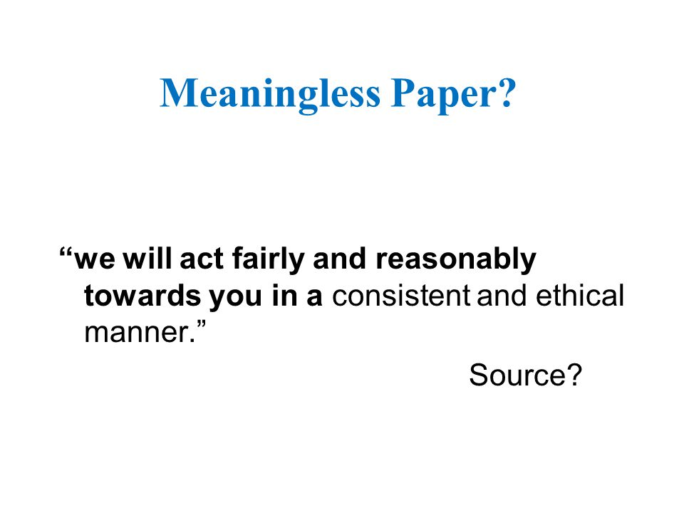 Meaningless Paper.