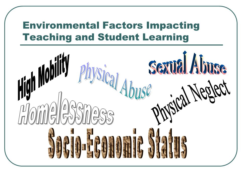 Environmental Factors Impacting Teaching and Student Learning
