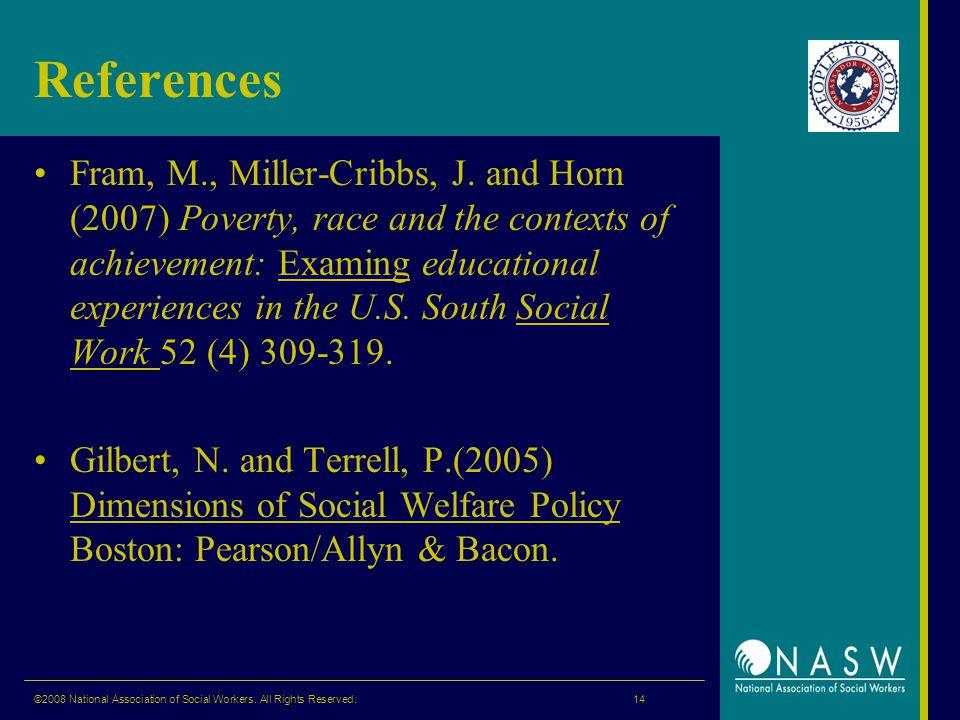 References Fram, M., Miller-Cribbs, J.