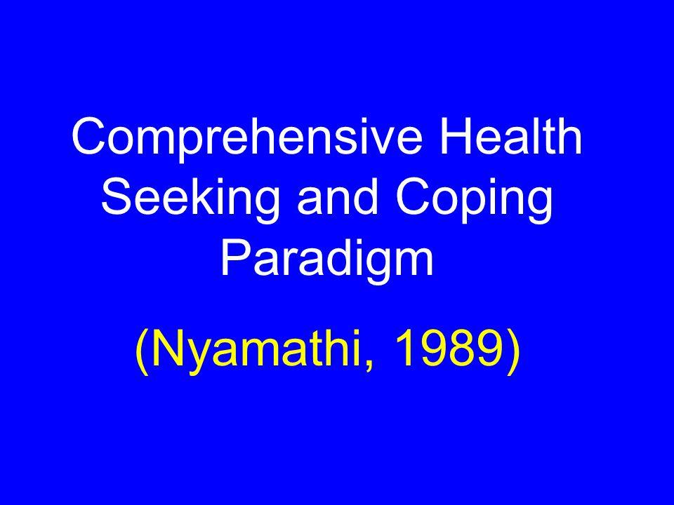 Comprehensive Health Seeking and Coping Paradigm (Nyamathi, 1989)