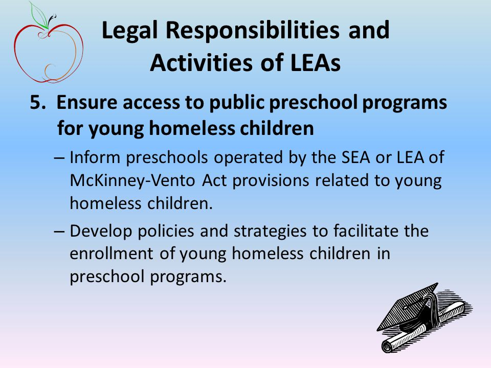 Legal Responsibilities and Activities of LEAs 5.