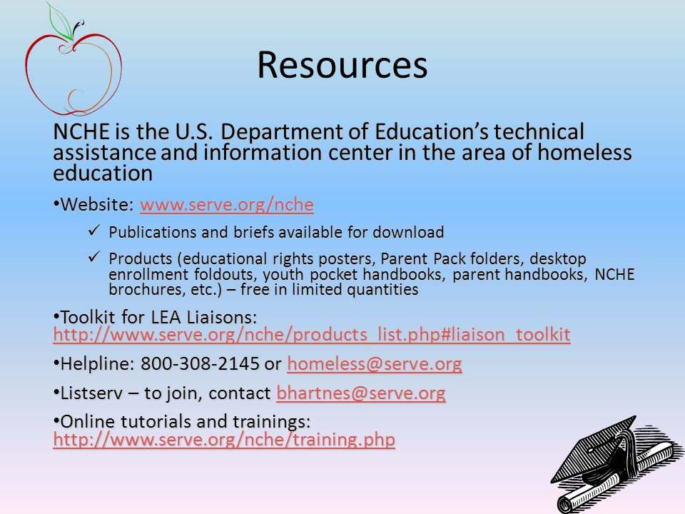 Resources NCHE is the U.S.