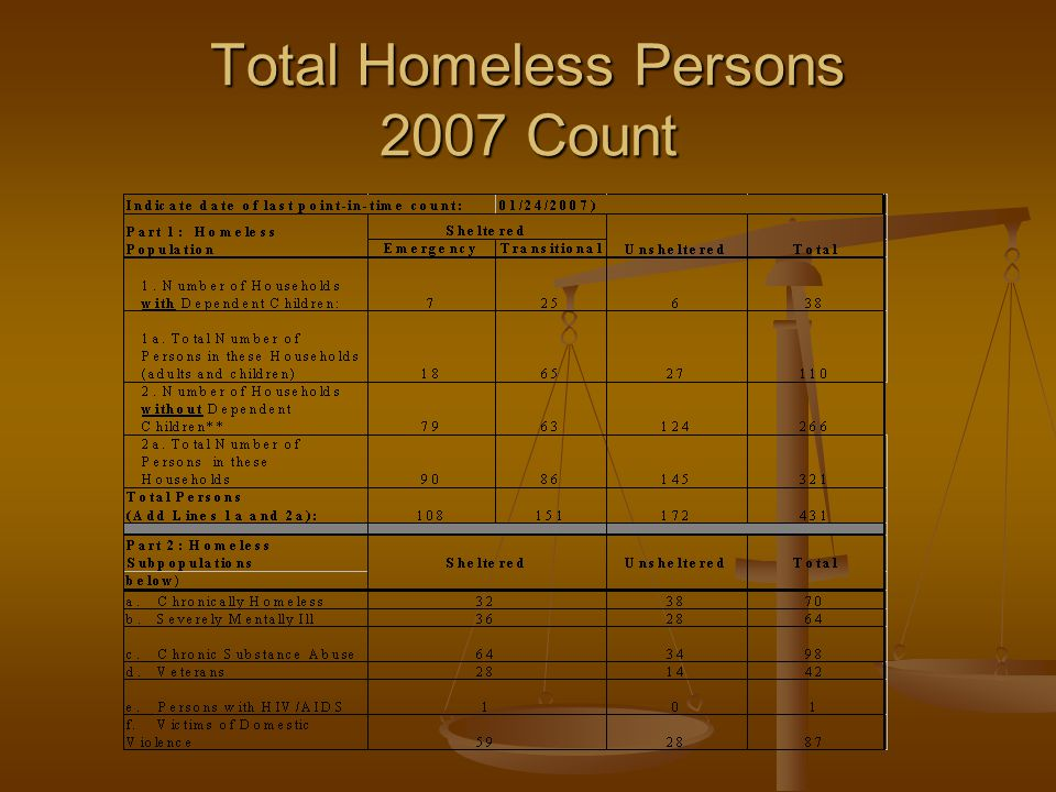 Total Homeless Persons 2007 Count