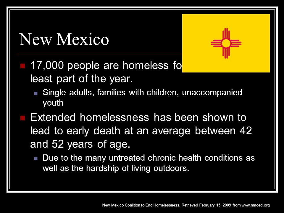 In Las Cruces in 2008 2,000-3,000 unduplicated people become or remain homeless over the span of a year.