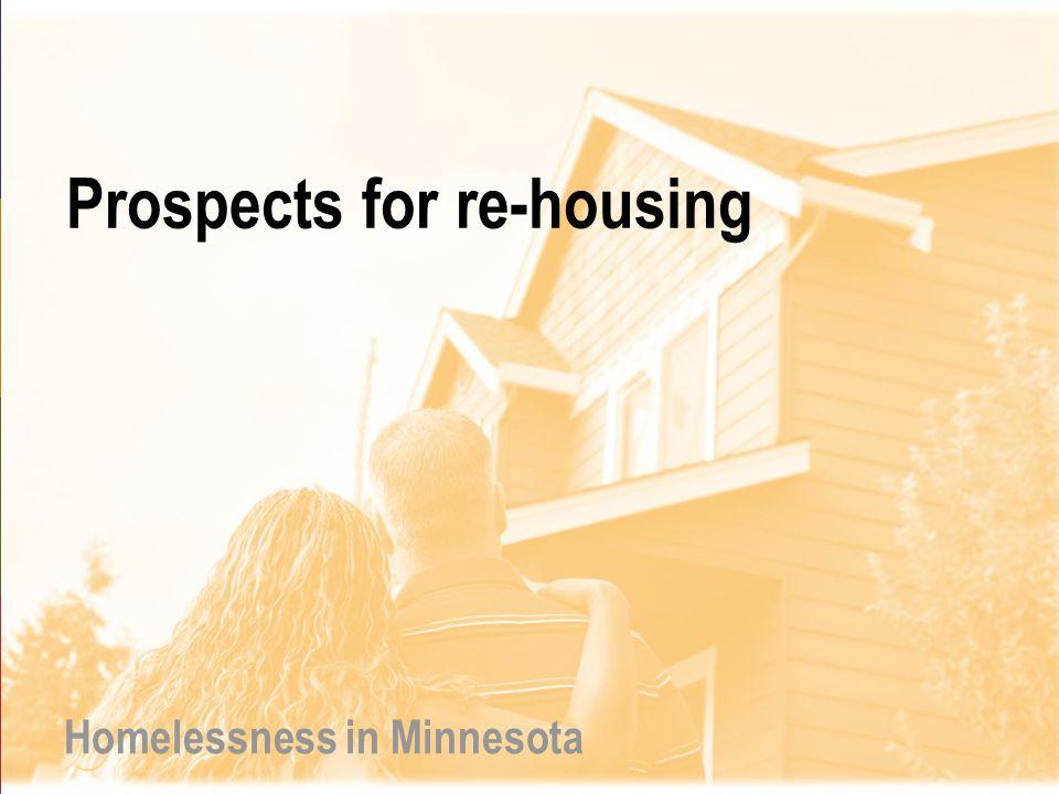 Prospects for re-housing Homelessness in Minnesota