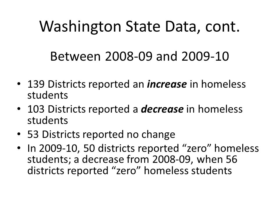 Washington State Data, cont.