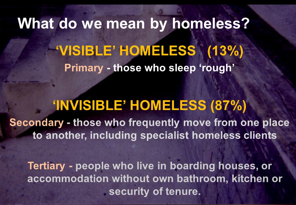 10 Steps Cold dark shelter for shame. What do we mean by homeless.