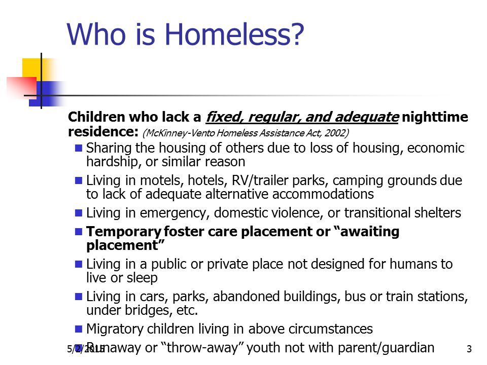 Who is Homeless.