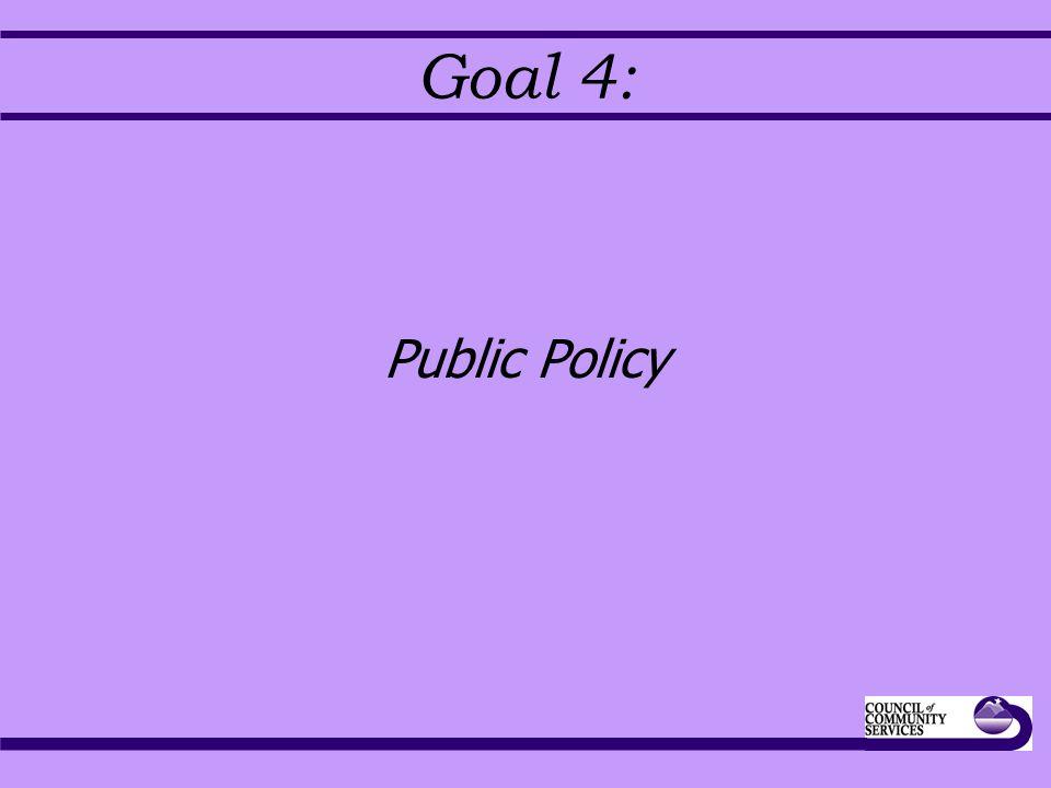 Goal 4: Public Policy